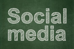 Social Media on chalkboard background Stock Photography