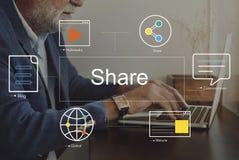 Social Media-Chat-Blog-Werbekonzeption Stockfoto