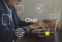 Social Media-Chat-Blog-Werbekonzeption Lizenzfreie Stockbilder