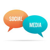 Social Media Chat Bubble Stock Photo