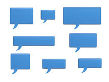 Social media chat bubble words Stock Photography