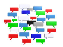 Social media chat bubble words Stock Image