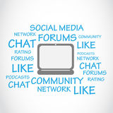 Social Media, Chat, Forums. Abstract Background Stock Images