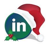 Social media christmas icons Stock Photography