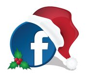 Social media christmas icons Stock Photos