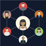 Social Media Circles, Network Illustration, Social network, people connecting all over the world Royalty Free Stock Photos