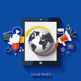 Social media. Cloud of application icons Royalty Free Stock Photography