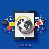 Social media. Cloud of application icons Stock Photos