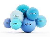 Social media cloud computing Stock Photography