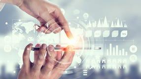 Social media and cloud computing . Mixed media Royalty Free Stock Image