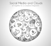 Social Media and Cloud concept background Stock Photos