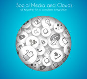 Social Media and Cloud concept background Stock Photo