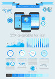 Social Media and Cloud concept Infographic background Stock Photos