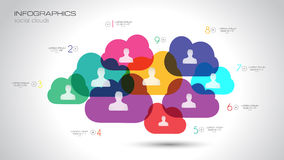 Social Media and Cloud concept Infographic background Royalty Free Stock Photo