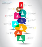 Social Media and Cloud concept Infographic background Stock Photography
