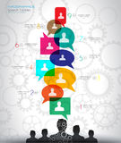 Social Media and Cloud concept Infographic background Royalty Free Stock Photos