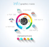 Social Media and Cloud concept Infographic Stock Image