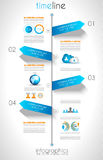 Social Media and Cloud concept Infographic Royalty Free Stock Photo