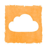 Social Media Cloud Painted Orange Box Frame Royalty Free Stock Photo
