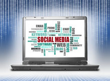Social Media Cloud Words Royalty Free Stock Image