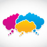 Social media clouds Royalty Free Stock Photography