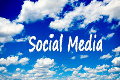 Social Media clouds Royalty Free Stock Image