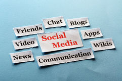 Social Media-Collage lizenzfreie stockfotografie