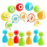 Social media colorful glossy emblem isolated Stock Images