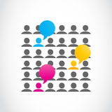 Social media communication Royalty Free Stock Photos