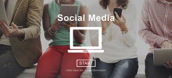 Social Media Communication Community Global Concept Royalty Free Stock Photos