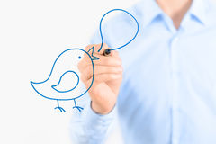 Social media communication concept Stock Photography