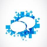Social media communication concept Stock Photos