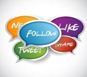 Social media communication concept Royalty Free Stock Photo