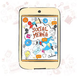 Social Media Communication Concept Internet Network Connection Royalty Free Stock Images