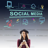 Social Media Communication Conection Internet Concept. Social Media Communication Conection Internet Stock Photo