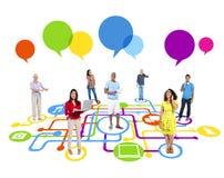 Social Media Communication Stock Image