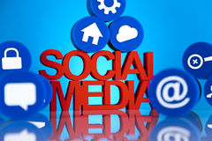 Social media communication Royalty Free Stock Image