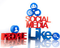 Social media communication Stock Photos
