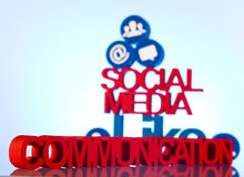 Social media communication Stock Images
