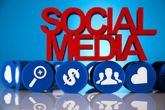 Social media communication Stock Photography