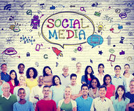 Social Media Communications Diversity Group Technology Concept.  Royalty Free Stock Photo