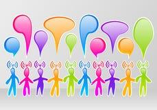 Social media community. Colorful community social media network Stock Image