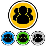 Social Media, Community, People Icon Stock Images