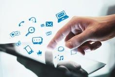 Social media concept royalty free stock photos