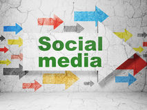 Social media concept: arrow with Social Media on Royalty Free Stock Photography