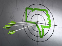 Social media concept: arrows in Thumb Down target Stock Photography