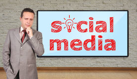 Social media concept Royalty Free Stock Image