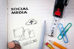 Social media concept. digital marketing and internet business royalty free stock photo