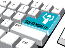 Social media concept: Enter button with good health on computer. Vector file Stock Photo