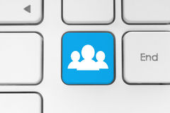 Social media concept on keyboard Stock Images